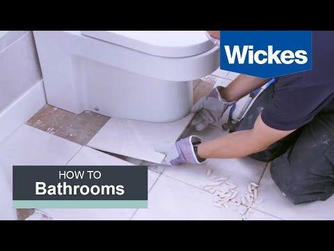Tiling Around Toilet Paper Template For Size Measurements Bathroom Flooring Wickes Bathroom Floor Tiles