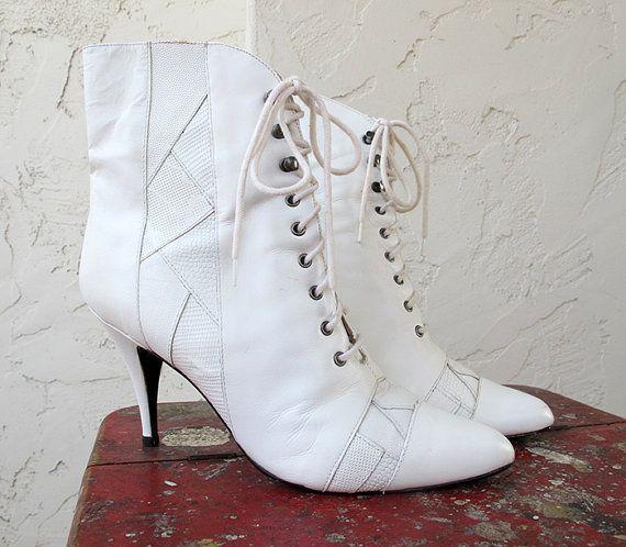 Vintage Leather Granny Boots  7995dada0