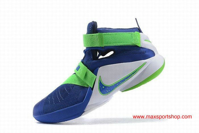 quality design f96cb 92179 Nike LeBron Zoom Soldier 9 Sprite Blue Green Basketball Shoes | Nike ...