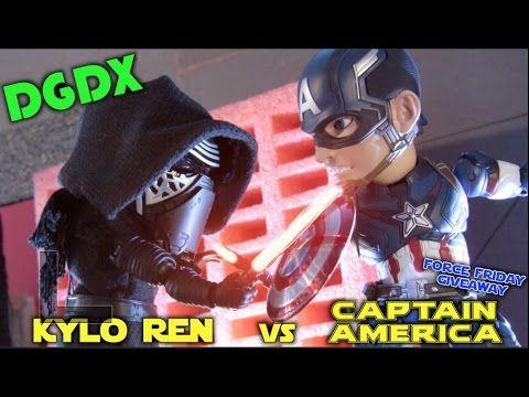 """CAPTAIN AMERICA: GALAXY WAR"" MARVEL VS STAR WARS STOP MOTION Part 1( KYLO REN VS CAPTAIN AMERICA) - YouTube #icollectatEE"