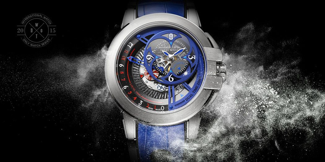 This Harry Winston Ocean Dual Time Retrograde Unique is iW Magazine's Watch of the Day and is a #OnlyWatch2015