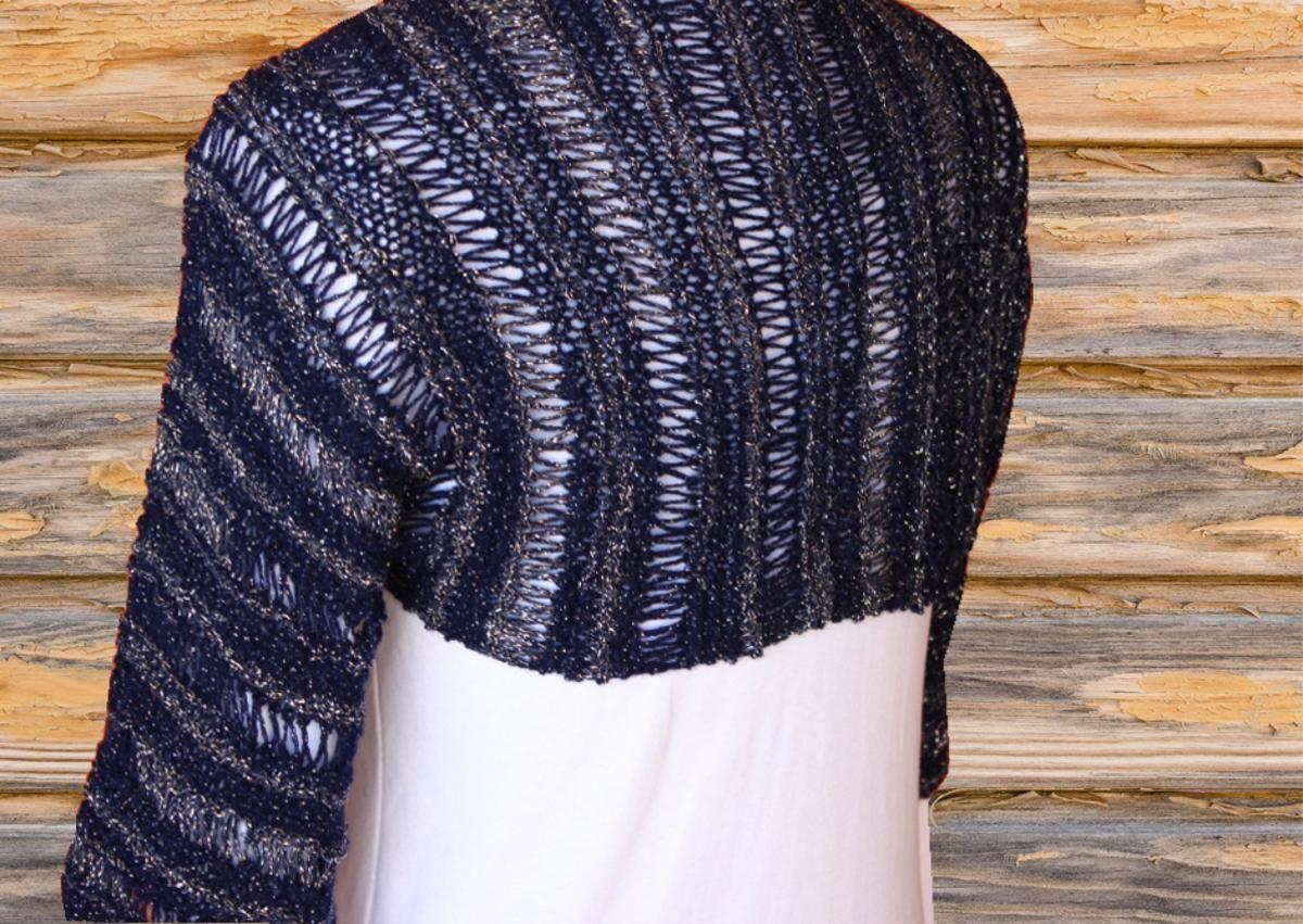 Openwork Knit Shrug | Knit shrug, Knitting patterns and Patterns
