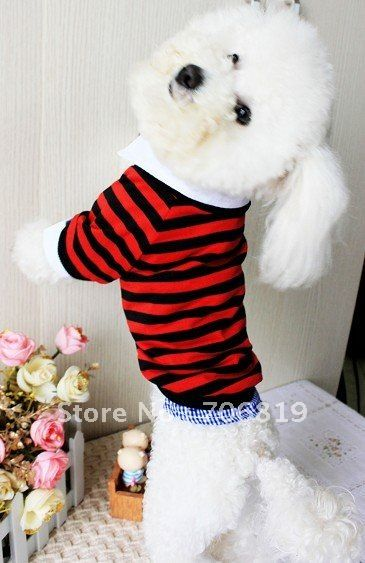 Big Sales !! (free shipping) Stripes Shirt for Pet,Shield on Sleeve/Legs,Dog t shirt Red Blue Grey Colors-in Dog Clothing from Home & Garden on Aliexpress.com