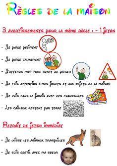 Tableau Des Regles De Vie A La Maison exemple tableau regle de la maison pour enfant a imprimer