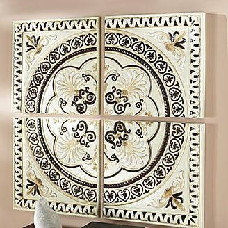 4 Piece Medallion Wall Art From Seventh Avenue Medallion Wall Art Furniture Gifts Decor