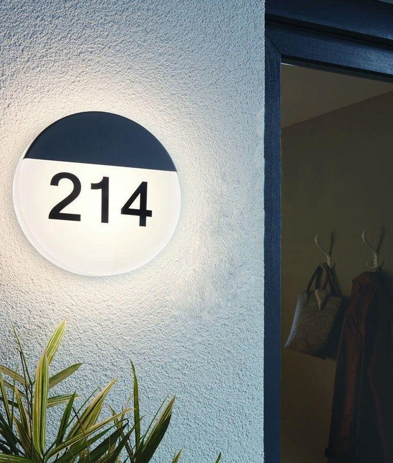 Illuminated Round House Number Bulkhead Led Garden