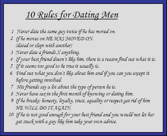 top online dating rules for guys