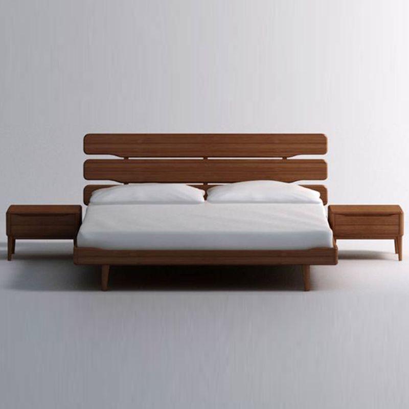 Modern Wood Bed Frames: Wooden Floating Bed Frame