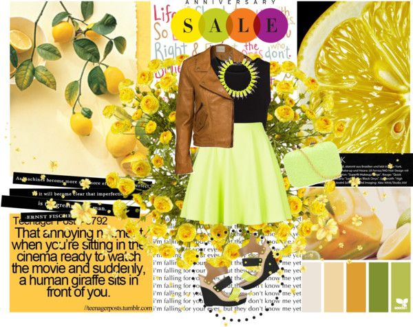 """Yellow and colors in fashion"" by adrianaboje ❤ liked on Polyvore"