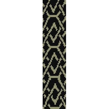 Free Loom Bead Patterns Chain Beading Pattern For Cuff Bracelet Any