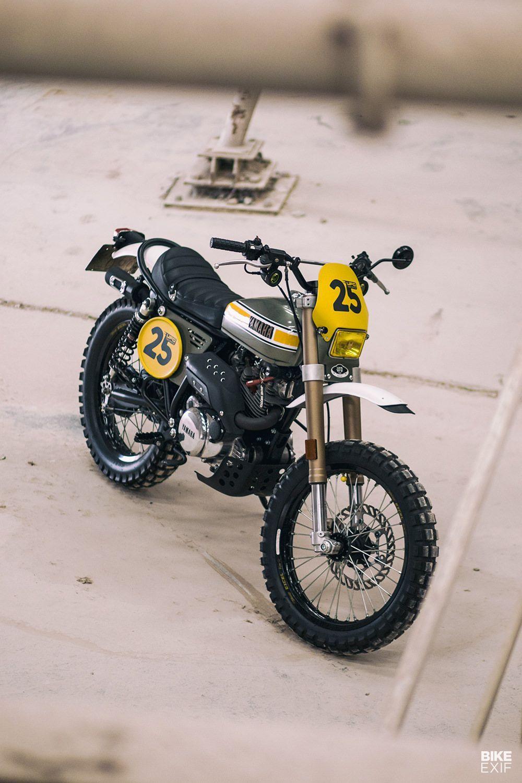 Please Yamaha Build A Scrambler As Cool As This Sr250 Build Cool Please Scrambler Sr250 Yamaha Motor Jalanan Kendaraan Motor