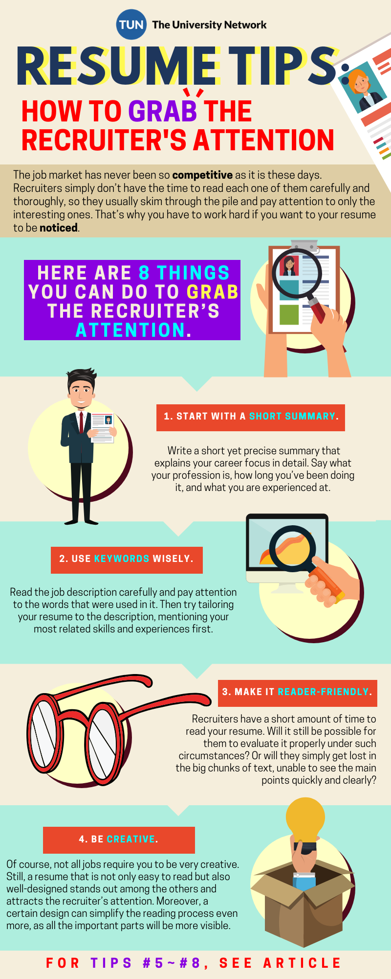 Its YOUR Responsibility To Make Your Resume STAND Out So Do Here Are 8 Tips On How GRAB The Recruiters Attention