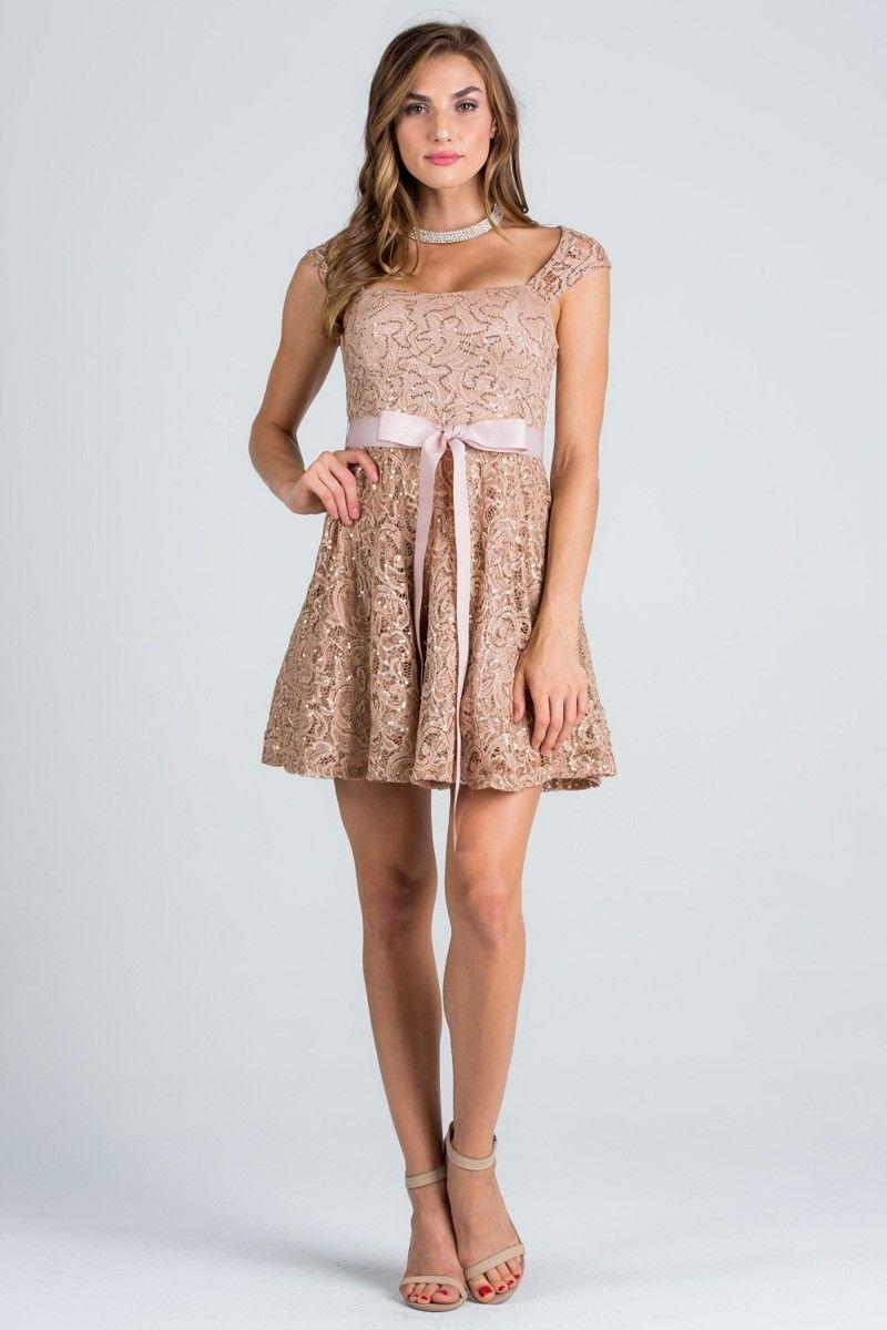 Lace short party dress ls solid color short lace party dress