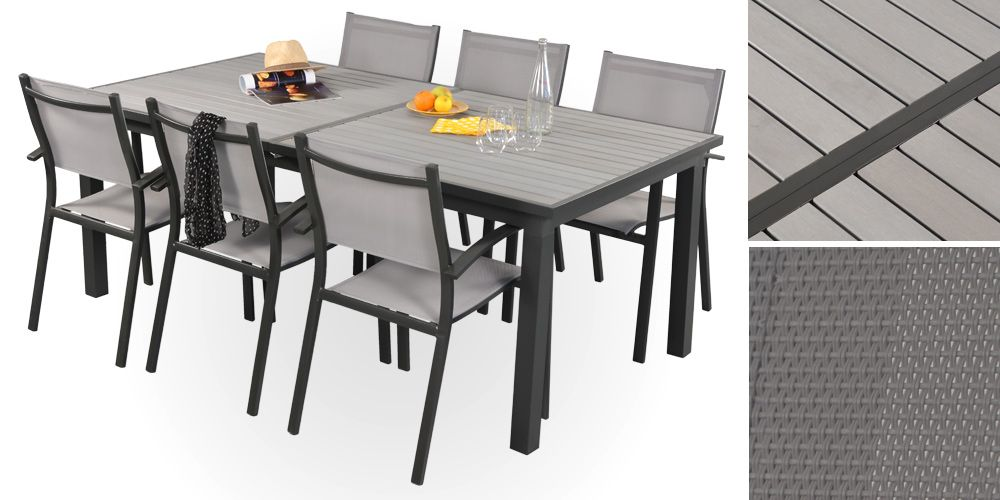 Beautiful Table De Jardin Aluminium Et Bois Pictures - Amazing ...
