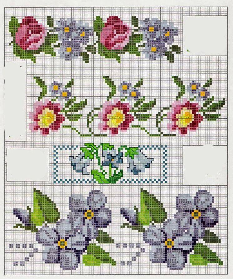 Etamin El Havlusu Örnekleri (4) | Kanaviçe Örnekleri - Cross Stitch ...