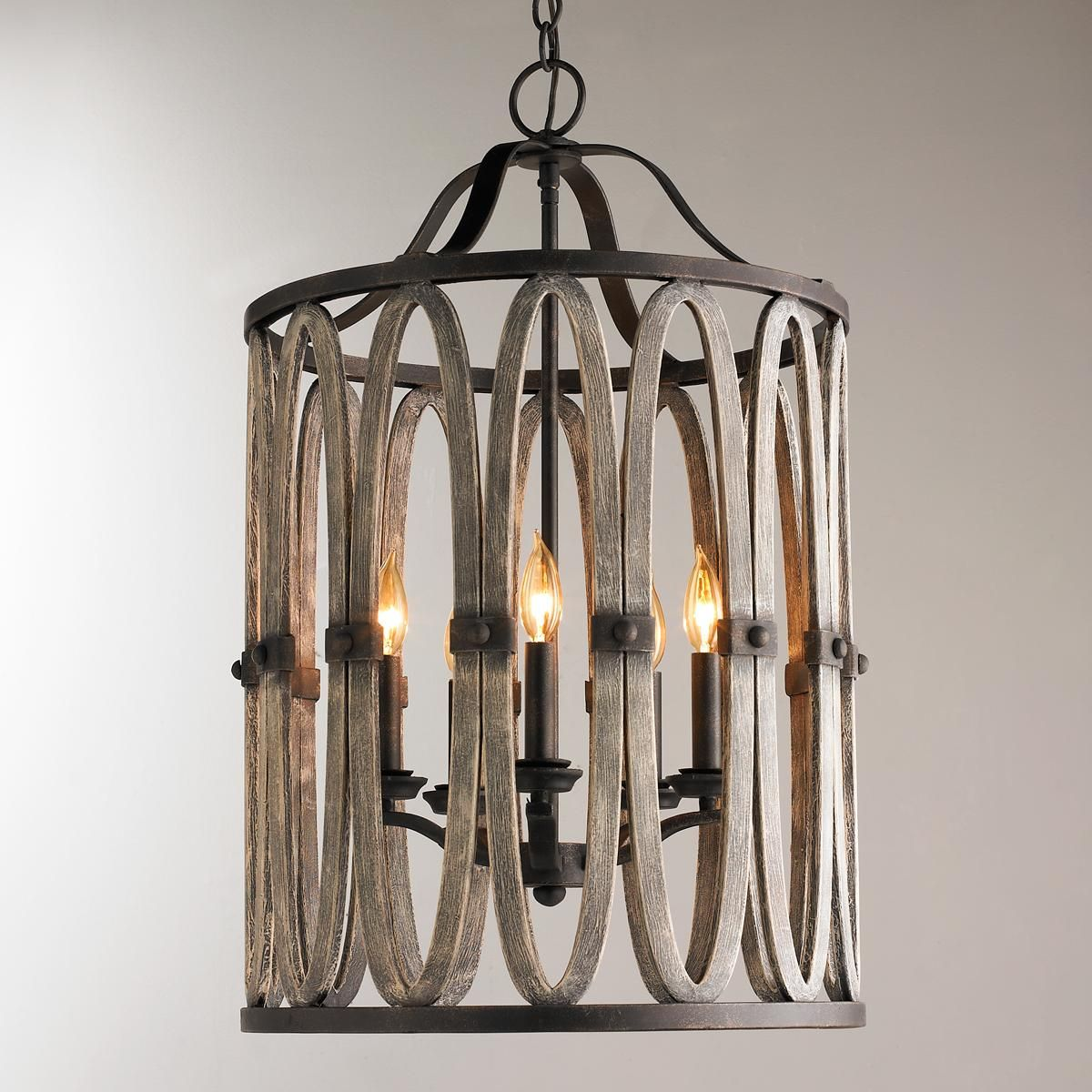 Big Foyer Lights : Driftwood entwined ovals pendant light foyer
