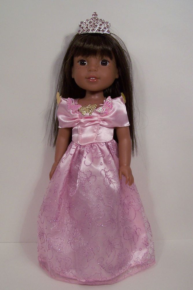 """BLACK SILVER Party Dress Doll Clothes For AG 14/"""" Wellie Wisher Wishers Debs"""