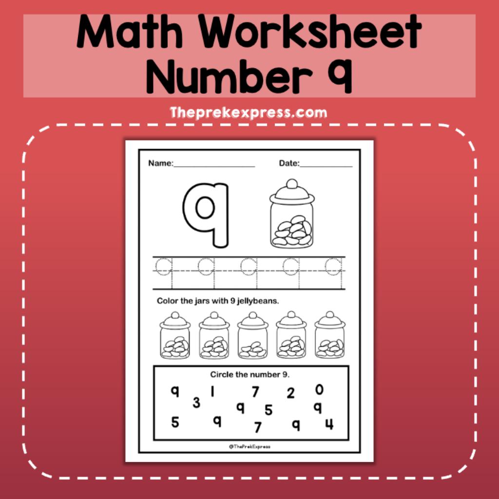 Number 9 Introducing Worksheet Numbers Kindergarten Math Number Sense Pre K Worksheets [ 1024 x 1024 Pixel ]