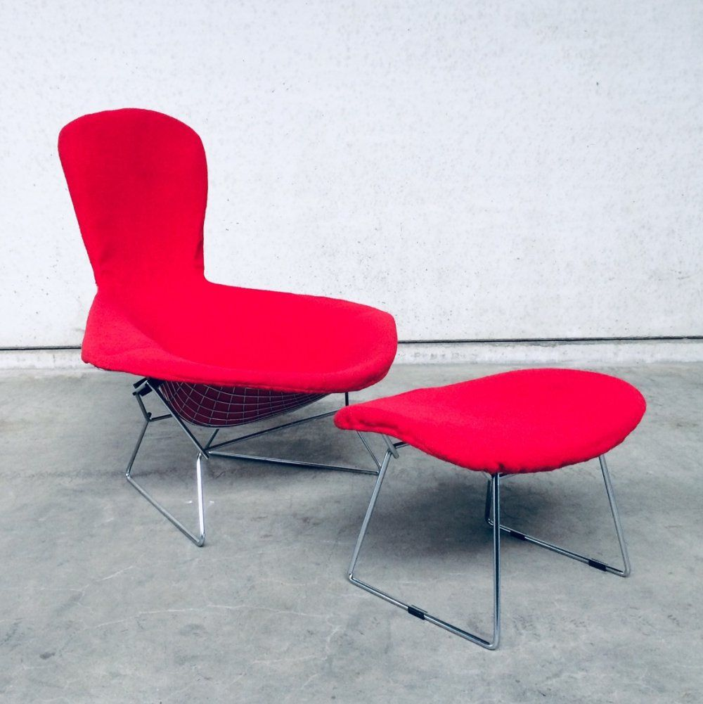 Harry Bertoia Bird Chair Ottoman By Knoll 1960 S 123959 Chair And Ottoman Bertoia Chair