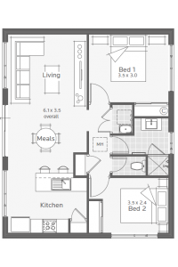 Flats Design augusta granny flat floorplan ~ great pin! for oahu architectural