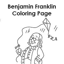 Unit 9 Benjamin Franklin With Kite Coloring Page Fit To Page
