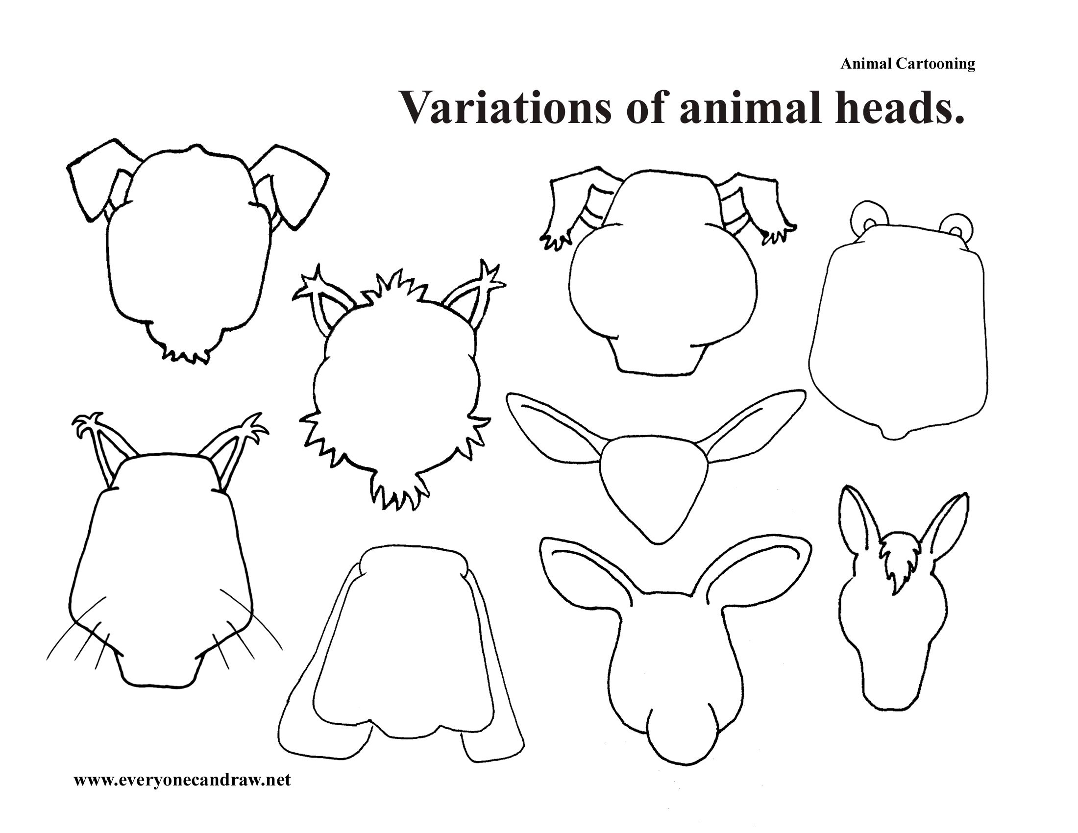 Variations On Animal Heads And Even More Animal Heads In