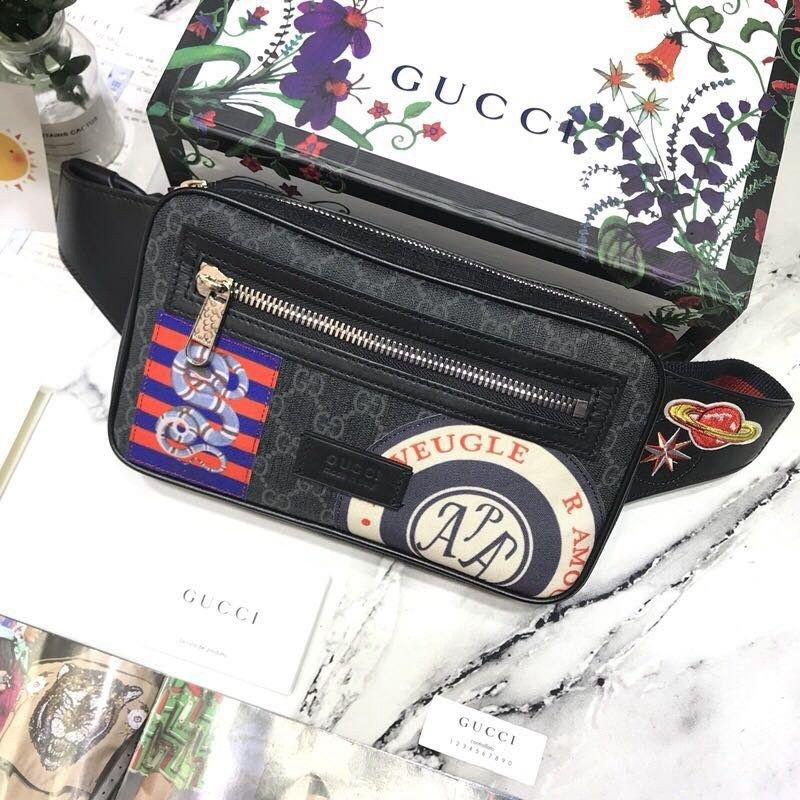 5d4a68239e9344 Gucci Night Courrier soft GG Supreme belt bag 474293 | Belt Bags ...