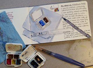 Artists' Journal Workshop- A secret to aquicker sketching.