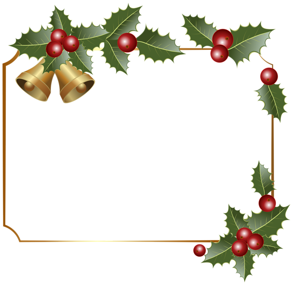 christmas border decor with bells png clipart image rh pinterest ca religious christmas border clip art free