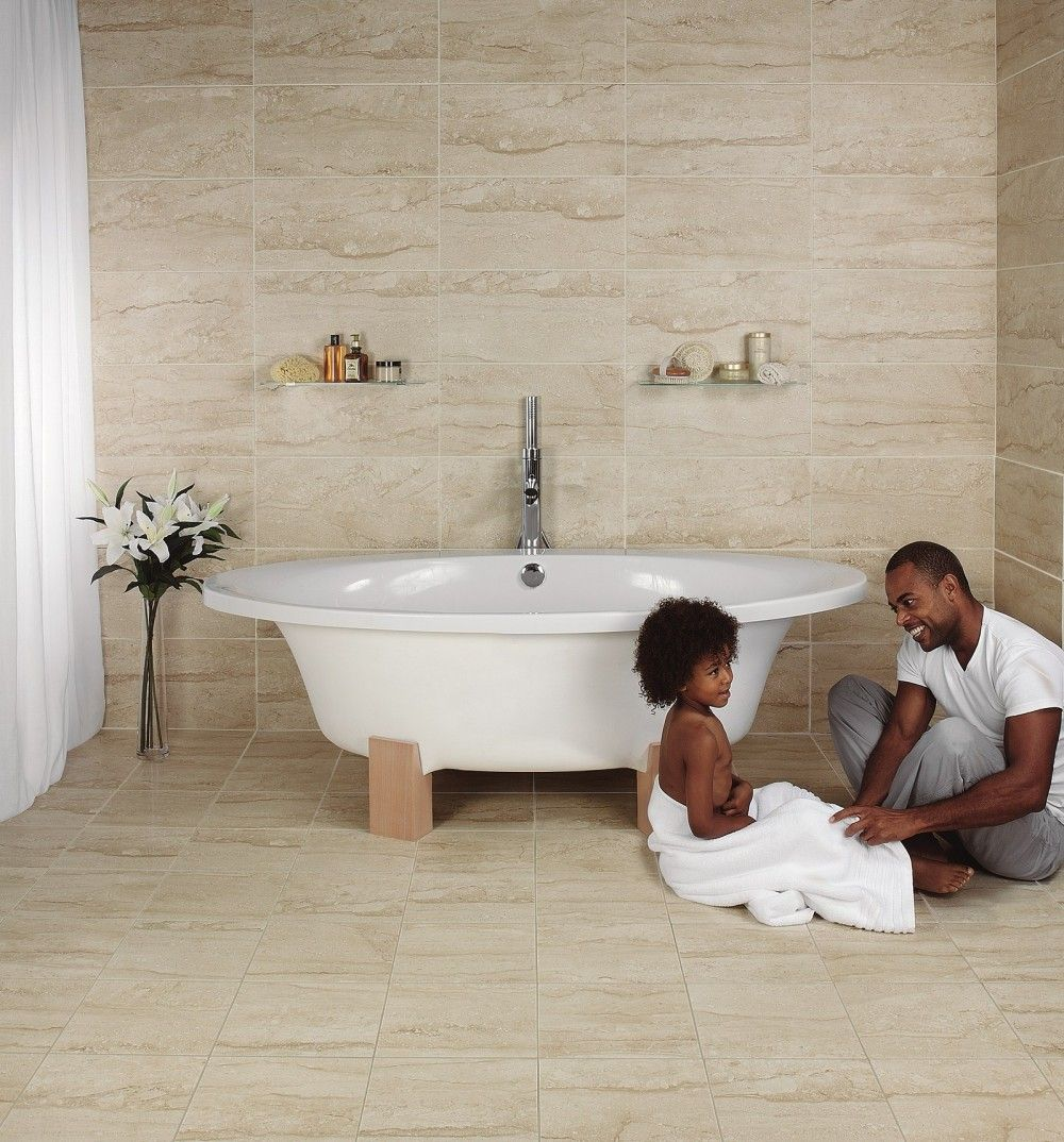 solace travertine matt cream wall and floor tile