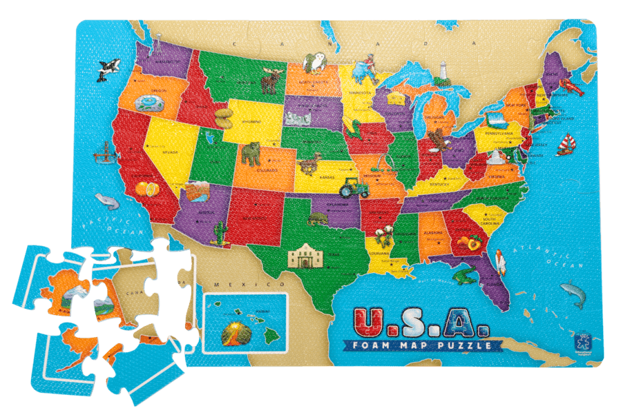 U.S.A. Foam Map Puzzle / A present idea from the nytimes