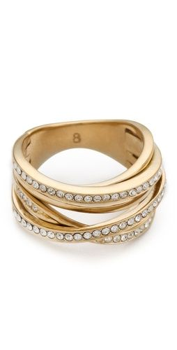 dcbeee65db2f7 Michael Kors Pave Stack Ring