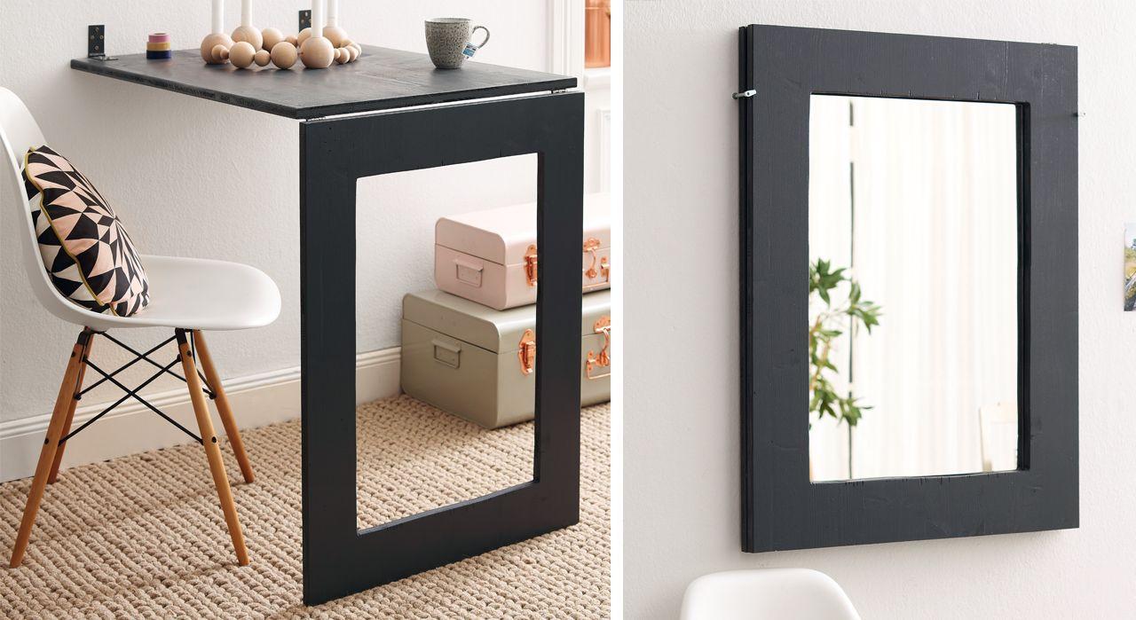 Meuble pratique  une table design et un miroir  ides maison