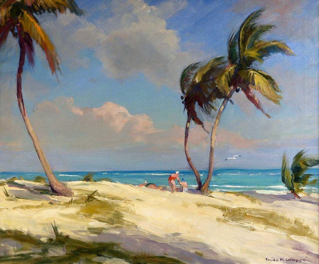 Emile Gruppe - The Beach at Crandon Park, Florida