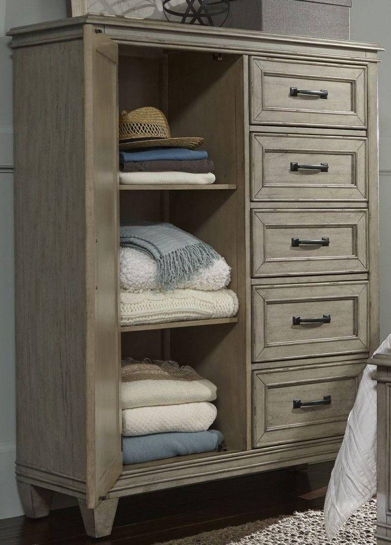grayton grove driftwood door chest  classic bedroom