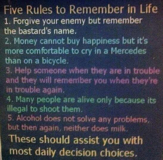 5 rules ;)
