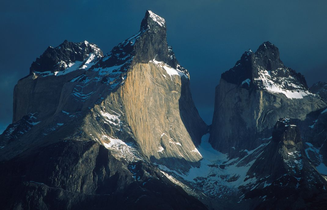 The multicoloured Cuernos in Torres del Paine, set in the park's heartland http://www.ecocamp.travel/Tours/Patagonia-Torres-del-Paine-W-Trek