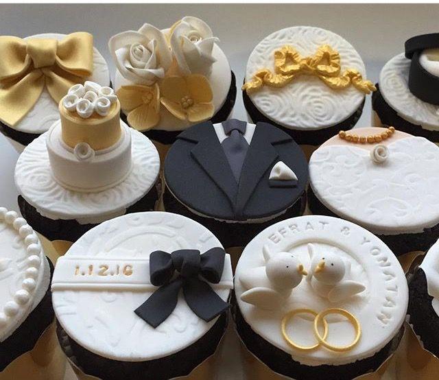 Pin By Fen On Wedding Wedding Cupcakes Fondant Bride Cupcakes Wedding Cakes With Cupcakes