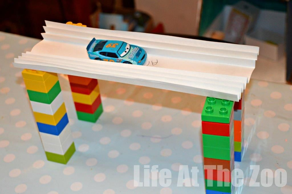 Paper Bridge Can You Get A Toy Car To Drive Over Sheet Of Without The And Falling Down Pinned By Jenny Evolution