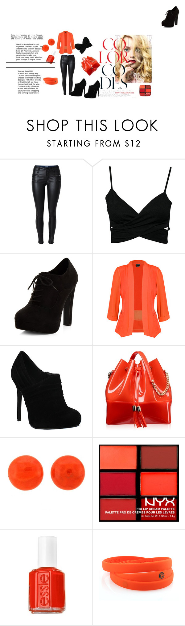 """Divina!!!"" by divinas40 on Polyvore featuring moda, New Look, City Chic, Kartell, NYX y Essie"
