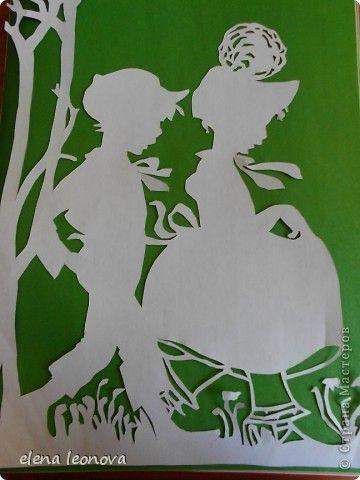 Картина, панно Вырезание, Вырезание силуэтное, Вытынанка: Дети Бумага День защиты детей. Фото 3