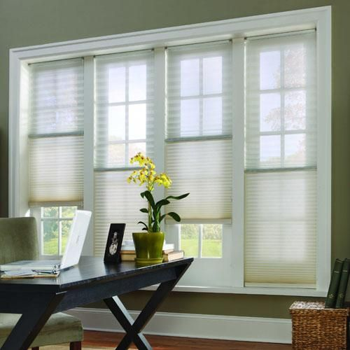 Trilight Sheer Cellular Shades With Bottom Up Feature Available In Foil Lined Blackout Honeycomb For Energ Honeycomb Shades Cellular Shades Honeycomb Blinds