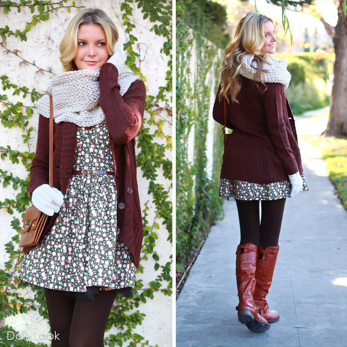 Romantic Floral Look Dailylook Floral Fashion Fashion Fall Floral Fashion