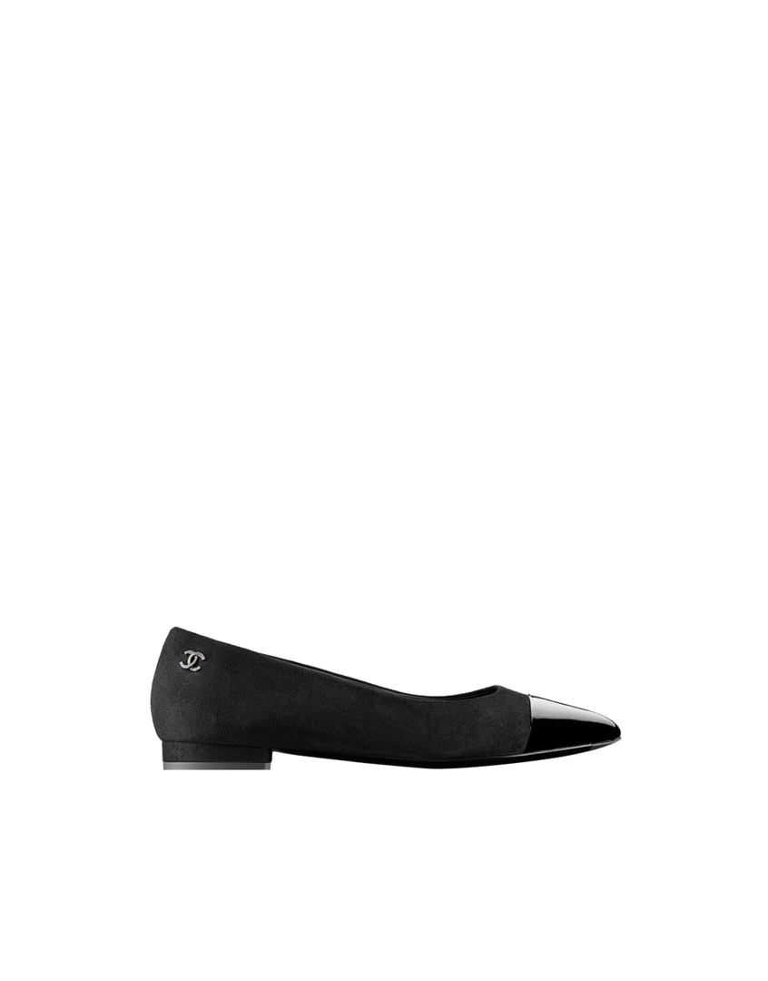 bfeac2ef4db Lambskin and patent calfskin flats - CHANEL  725 G29574 Y15017 94305 ...