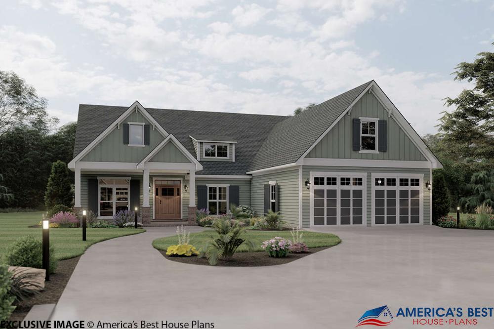 House Plan 04100144 Craftsman Plan 2,004 Square Feet