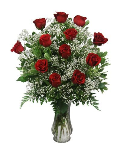 12 Roses and Accent Flowers