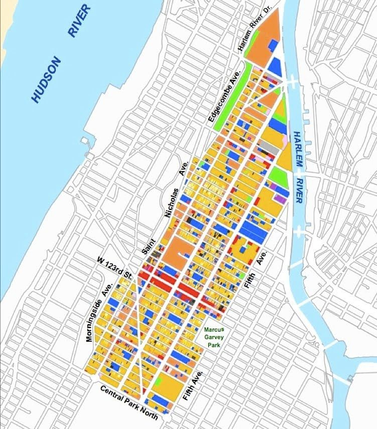 Harlem Nyc Map.H A R L E M B E S P O K E Neighborhood Maps Central Harlem