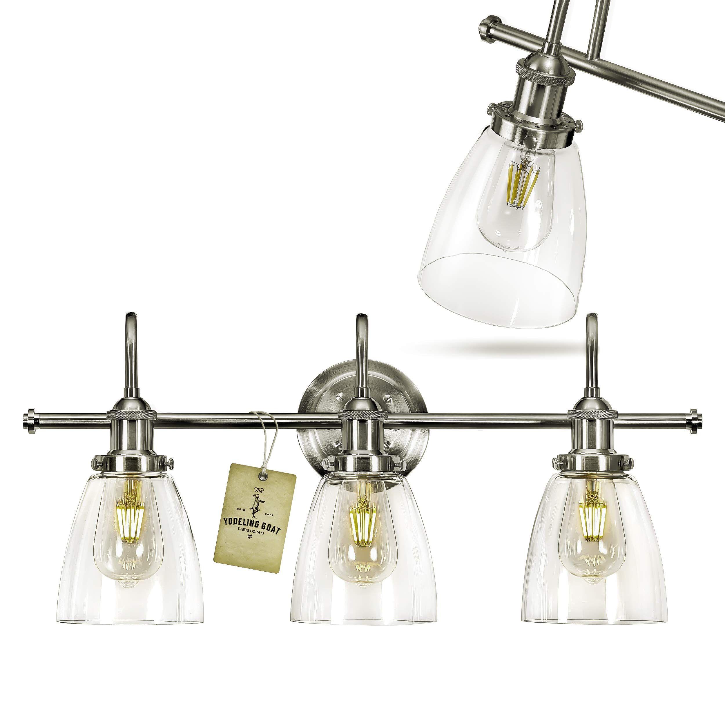 Bathroom Vanity Light Fixtures Brushed Nickel Vanity Light You Can Get More Details In 2020 Farmhouse Vanity Lights Light Fixtures Bathroom Vanity Bathroom Lighting