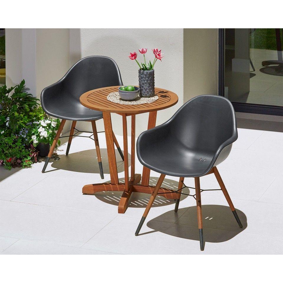 Cafétisch Safari (ø 70 cm, Eukalyptus Hartholz, rund, Jutlandia ...