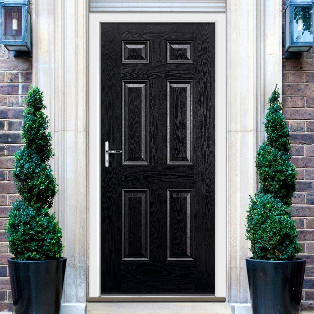 GRP Black \u0026 White Colonial 6 Panel Composite Door. #grpdoor #compositedoor #frontdoor & GRP Black \u0026 White Colonial 6 Panel Composite Door | Colonial and Doors